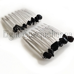 Obsidian Nuggets Mini-Comb Pair (40mm)  CO464